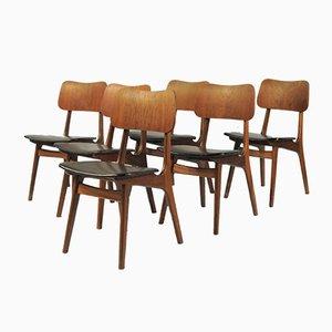 Personalisierbare dänische Teak Esszimmerstühle von Boltinge Stolefabrik, 1950er, 6er Set