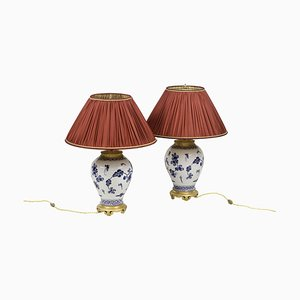 Lamps in Japanese Porcelain and Gilt Bronze, 1880s, Set of 2