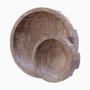 Platten aus Nussholz von Arno Declercq, 2er Set