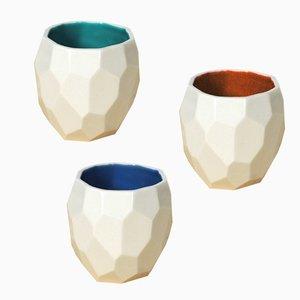 Tasses à Espresso Poligon par Sander Lorier pour Studio Lorier, Set de 3