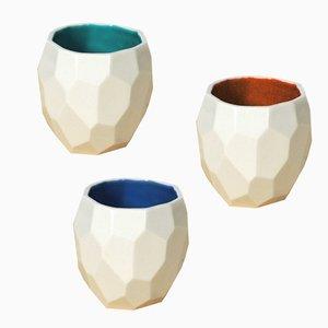 Tazzine da caffè Poligon di Sander Lorier per Studio Lorier, set di 3