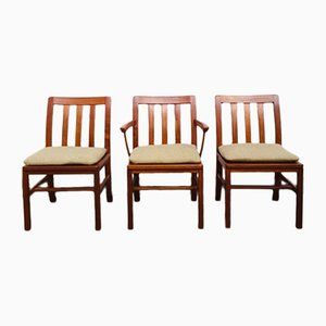 Mid-Century Teak Dining Chairs from Silkeborg Møbelfabrik, 1960s, Set of 3