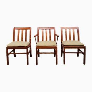 Mid-Century Teak Dining Chairs from Silkeborg Møbelfabrik, 1960s, Set of 3