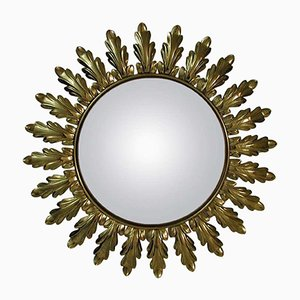 Vintage French Sun Mirror, 1950s