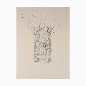 Lithographie Le Musée de Figueras Vintage par Salvador Dali
