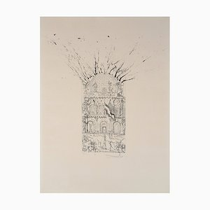 Vintage The Museum of Figueras Lithograph by Salvador Dali