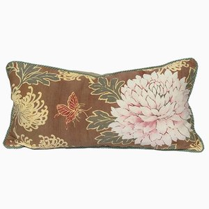 Floral Print Peony Lumbar Pillow by Katrin Herden for Sohil Design