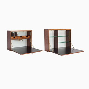 Rosewood Wall Units by Alfred Hendrickx for Belform, 1960s, Set of 2