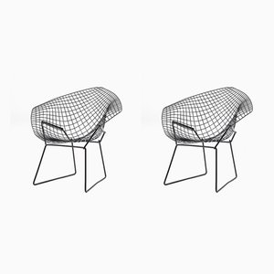 Fauteuils Modèle Diamond par Harry Bertoia pour Knoll Inc. / Knoll International, 1950s, Set de 2