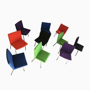 Customizable Airport Chairs by Hans J. Wegner for A.P. Stolen, 1960s, Set of 10