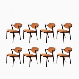 Chaises de Salon Personnalisables en Palissandre par Kai Kristiansen pour Schou Andersen, 1960s, Set de 8