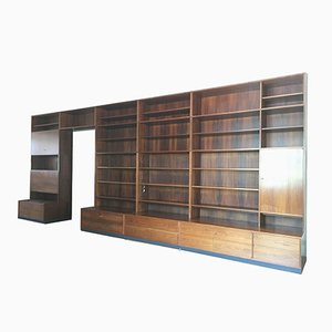 Mid-Century 4-Shelf Rosewood Bookcase