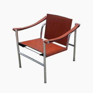 Silla Basculant LC1 italiana modernista de Le Corbusier, Pierre Jeanneret, & Charlotte Perriand para Cassina, años 80