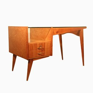 Italian Maple Geometric Desk, 1950s