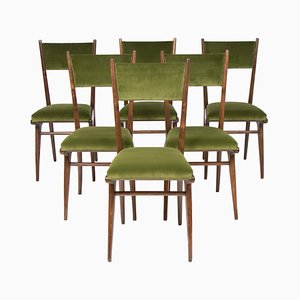 Italian High Back Dining Chairs by Ico & Luisa Parisi, 1950s, Set of 6