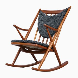 Rocking Chair Modèle 182 en Teck par Frank Reenskaug pour Bramin, 1950s