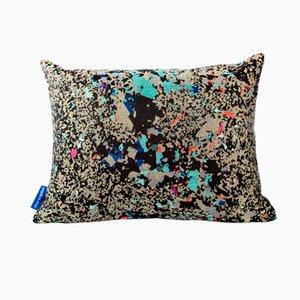 Black Multi Crystalline Rectangular Cushion by Other Kingdom