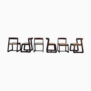 Italienische Esszimmerstühle aus Buche von Willy Rizzo für Mario Sabot, 1970er, 6er Set