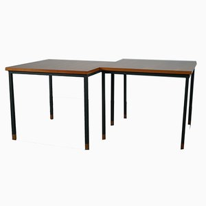 Sofa Tische aus Nussholz von Wilhelm Renz