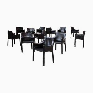413 Cab Chairs von Mario Bellini für Cassina, 1977, 12er Set