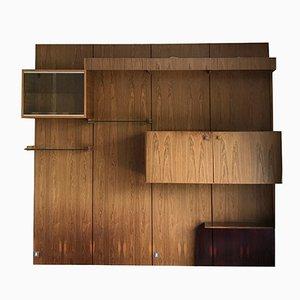 Unidad modular de oficina escandinava vintage de palisandro con escritorio