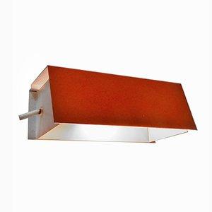 Lampada da parete modello 7102 arancione di Jan Hoogervorst per Anvia, anni '50