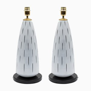 Murano Glass Table Lamps by Archimede Seguso, 1980s, Set of 2