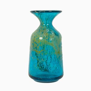 Vintage Glass Vase from Mdina, 1970s