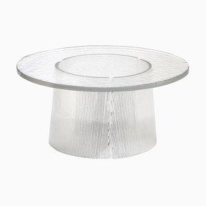 Large Bent Side Table 2375T in Transparent by Sebastian Herkner for Pulpo