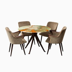 T40 and P38 Dining Set by Osvaldo Borsani