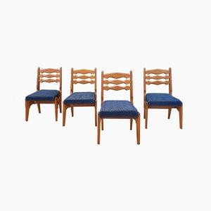Esszimmerstühle von Guillerme et Chambron für Votre Maison, 1950er, 4er Set