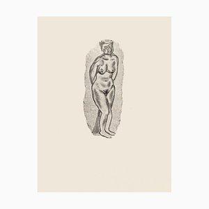 Posing Nu - Zincographie Originale par Mino Maccari - 1970s 1970s