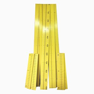 MAXI Wooden Rulers, 1970s, Set of 9