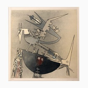 Aquatint Etch E.A. by Wifredo Lam for Terre d'Europe Show, 1978
