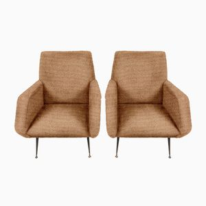 Customizable Mid-Century Lounge Chairs, 1960s, Set of 2