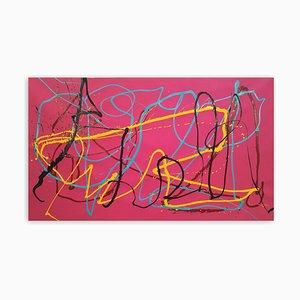 Dana Gordon, Alpha Beta Abstract Painting, 2021, Acrylic on Paper