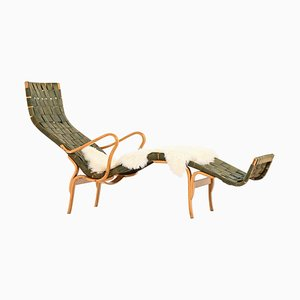 Model Pernilla 3 / T-108 Lounge Chair by Bruno Mathsson for Karl Mathsson
