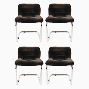 Dining Chairs by Giotto Stoppino, 1970s, Set of 4