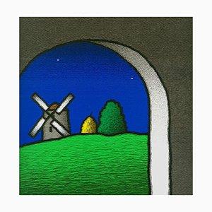 Farbiger Siebdruck, Tino Stefanoni, Innen und Mill, 2000