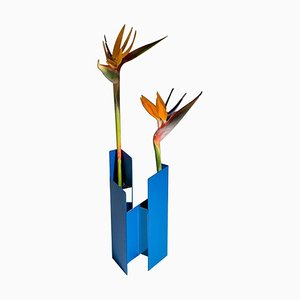 Blaue Fugit Vase von Matteo Fiorini