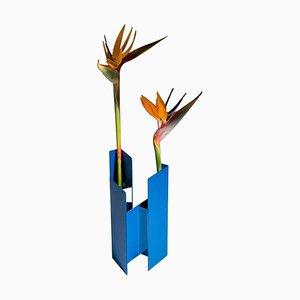 Fugit Blue Vase by Matteo Fiorini