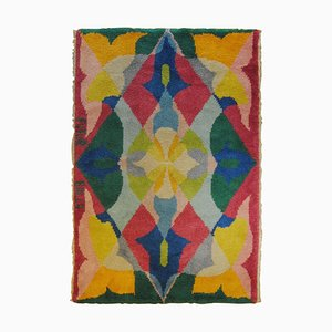 Pink Yellow Blue Green Flowers Rug, 1987