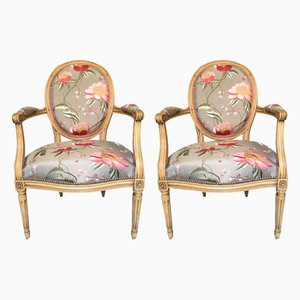 Louis XVI Armchairs, Set of 2