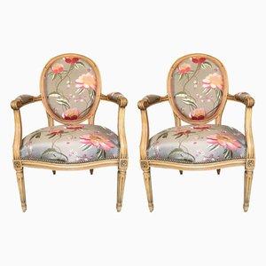 Louis XVI Armlehnstühle, 2er Set