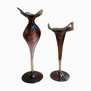 Murano Glass Vases, Set of 2