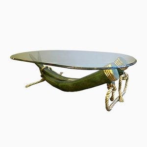 Vintage Bronze & Gilt Brass Tusk Table from Valenti
