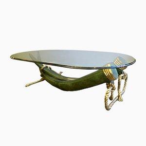 Vintage Stoßzahn Tisch aus Bronze & Vergoldetem Messing von Valenti