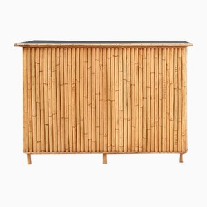Mobile bar in vimini e bambù