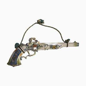 Cerámica artística en forma de pistola antigua, siglo XX