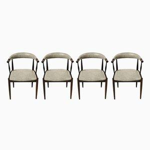 Personalisierbare Esszimmerstühle aus Palisander von Johannes Andersen, 4er Set
